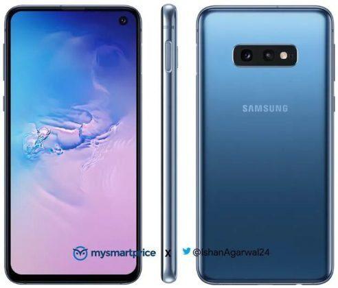 Samsung Galaxy S10e в синем цвете