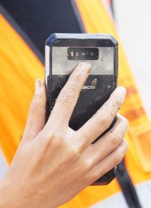 Задний сканер отпечатков пальцев