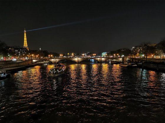 Река снятая ночью на основной датчик