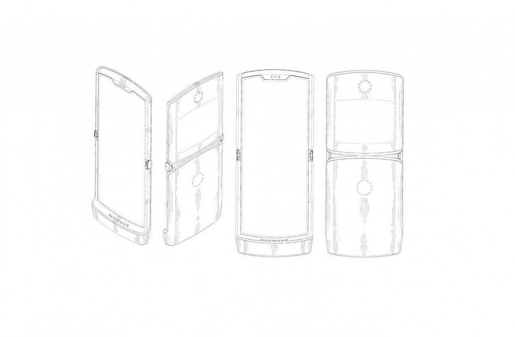 Схематическое изображение смартфона из патента