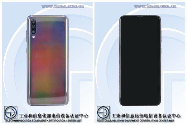 Samsung Galaxy A70 на сайте Tenaa