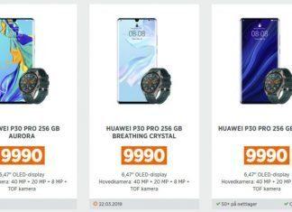 Цены на серию Huawei P30