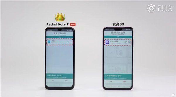 Redmi Note7 Pro против Honor 8X в Vellamo