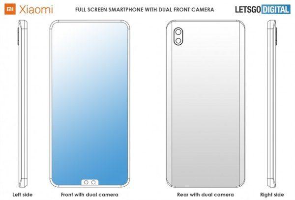 Патент Xiaomi с двойной камерой внизу