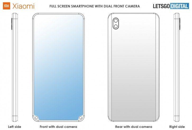 Патент Xiaomi с двойной камерой разнесенной по углам