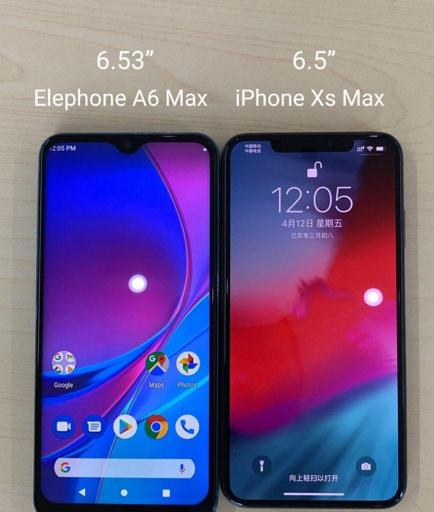 Elephone A6 Max против iPhone XS Max