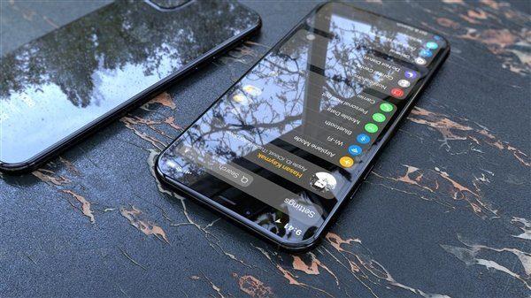 Фронтальная панель смартфона в черном цвете
