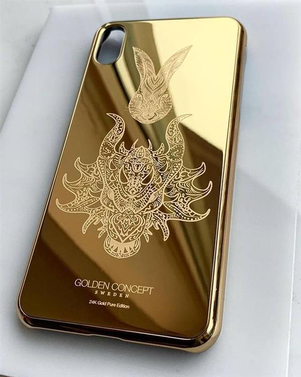 золотой чехол для iPhone XS