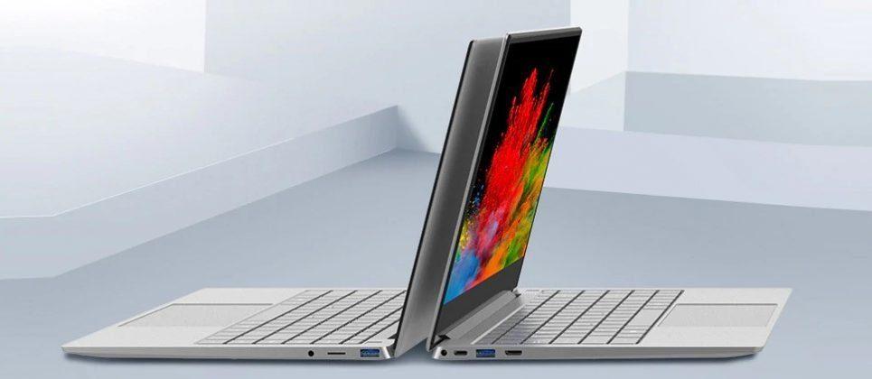 Ноутбук - вид сбоку