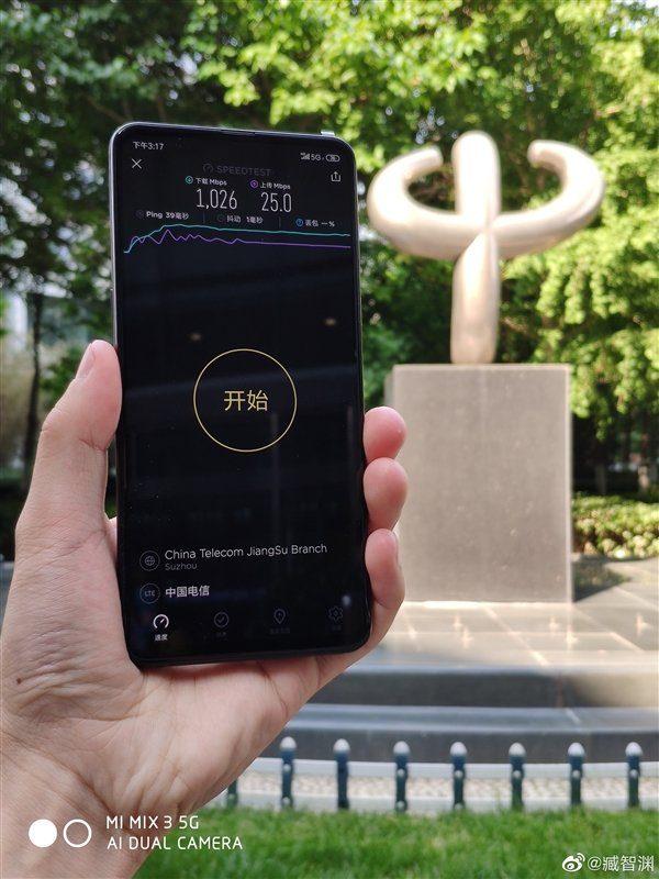 Тест скорости в 5G-сети для Xiaomi MIX 3 5G