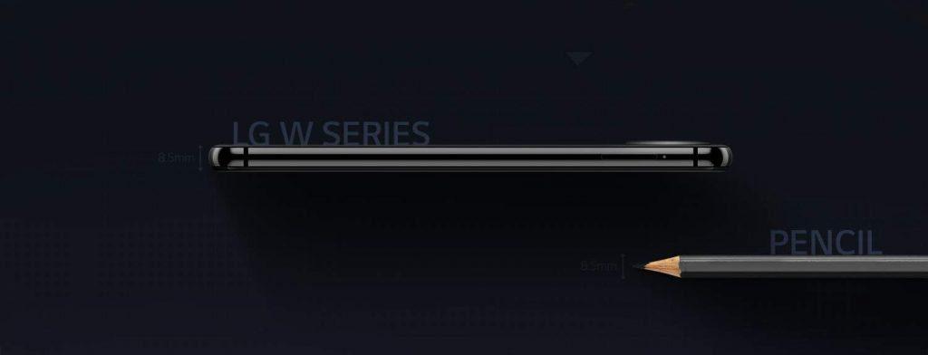Толщина нового смартфона из серии W