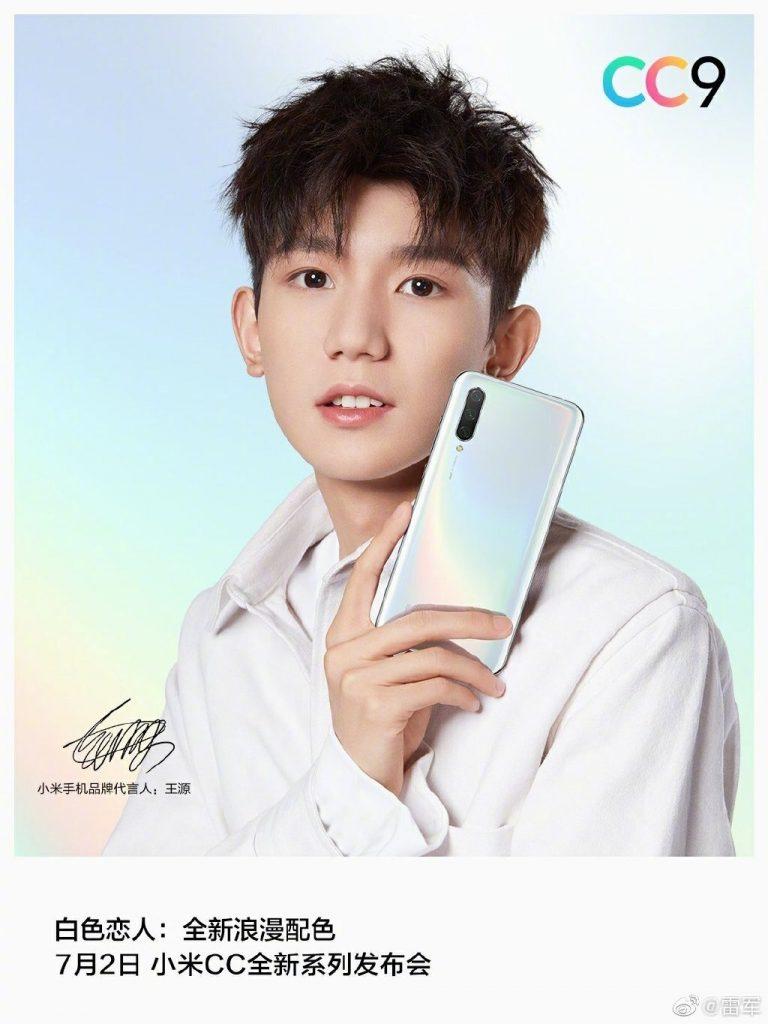 """Xiaomi Mi CC9 - в цвете """"белый любовник"""""""