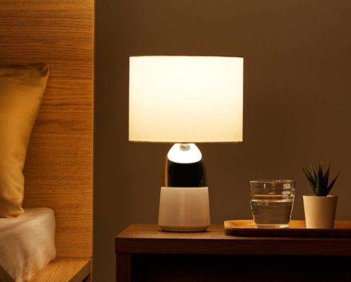 Прикроватная настольная лампа Xiaomi ночью