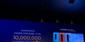 Более 10 млн. продаж Huawei P30