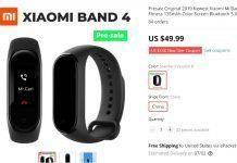 Xiaomi Mi Band 4 доступен для заказа