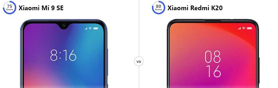 Xiaomi Mi9 SE против Xiaomi Mi 9T