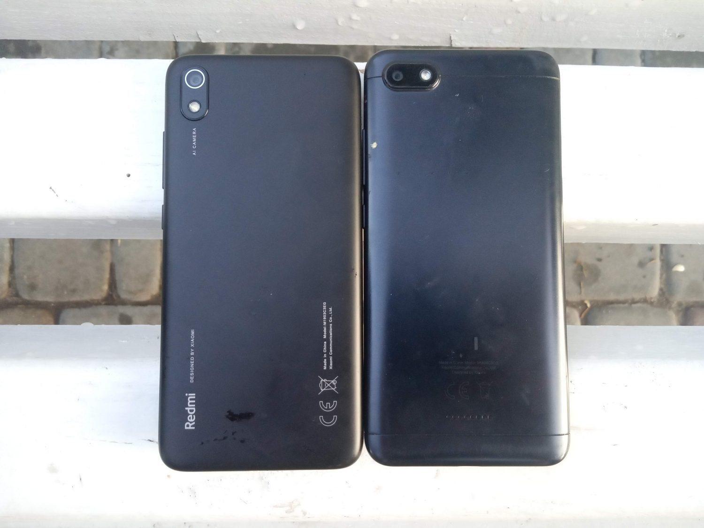 Как выглядит задняя панель Redmi 7A (слева) и Redmi 6A (справа)
