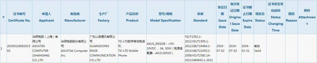 Asus ROG Phone 2 прошел сертификацию 3C