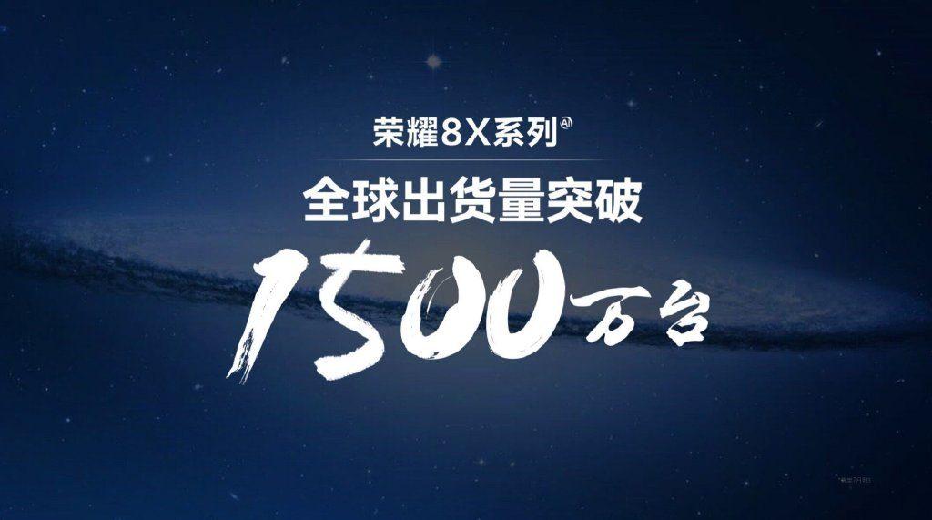 Honor 8x - продажи