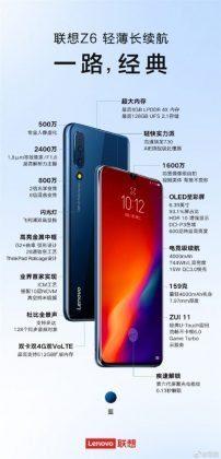 Характеристики Lenovo Z6