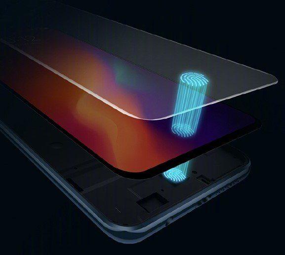 Сканер отпечатков пальцев встроенный в дисплей