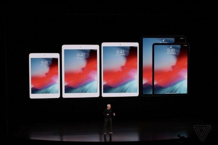 Разные поколения iPad