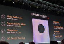 Параметры основной камеры в Huawei Mate 30 Pro