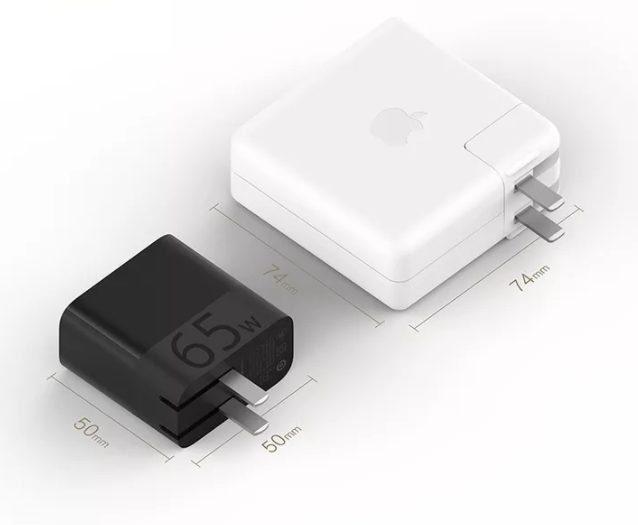 65 Вт адаптер от Xiaomi в сравнении с адаптером Apple