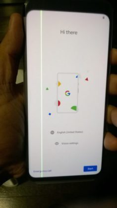 Зеленая полоска на дисплее смартфона