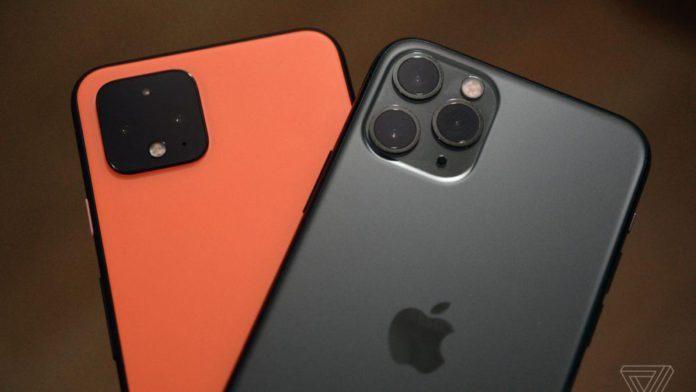 Pixel 4 и iPhone 11 Pro