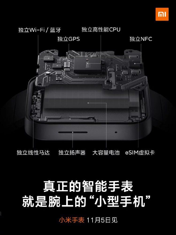Внутренняя начинка умных часов Xiaomi