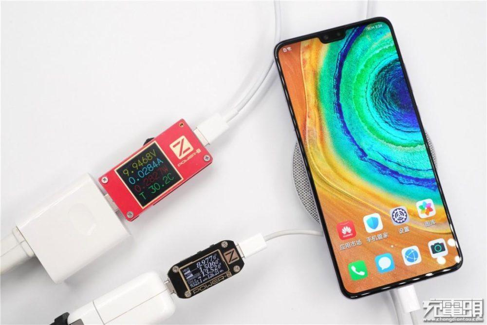 Huawei Mate 30 - беспроводная и проводная зарядка