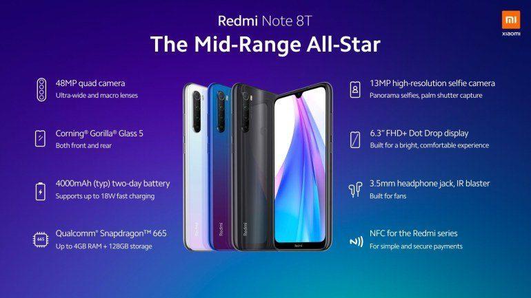 Характеристики Redmi Note 8T