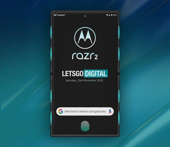 рендерное изображение раскрытой Motorola Razr 2