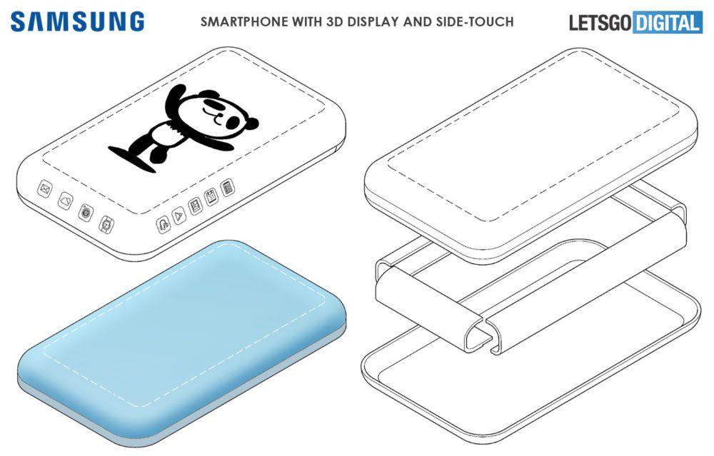 Samsung galaxy one патент на экран-водопад с четырех сторон