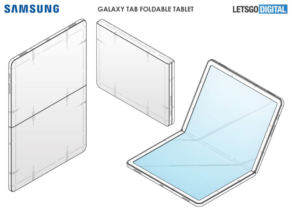 Galaxy Tab с складным дисплеем