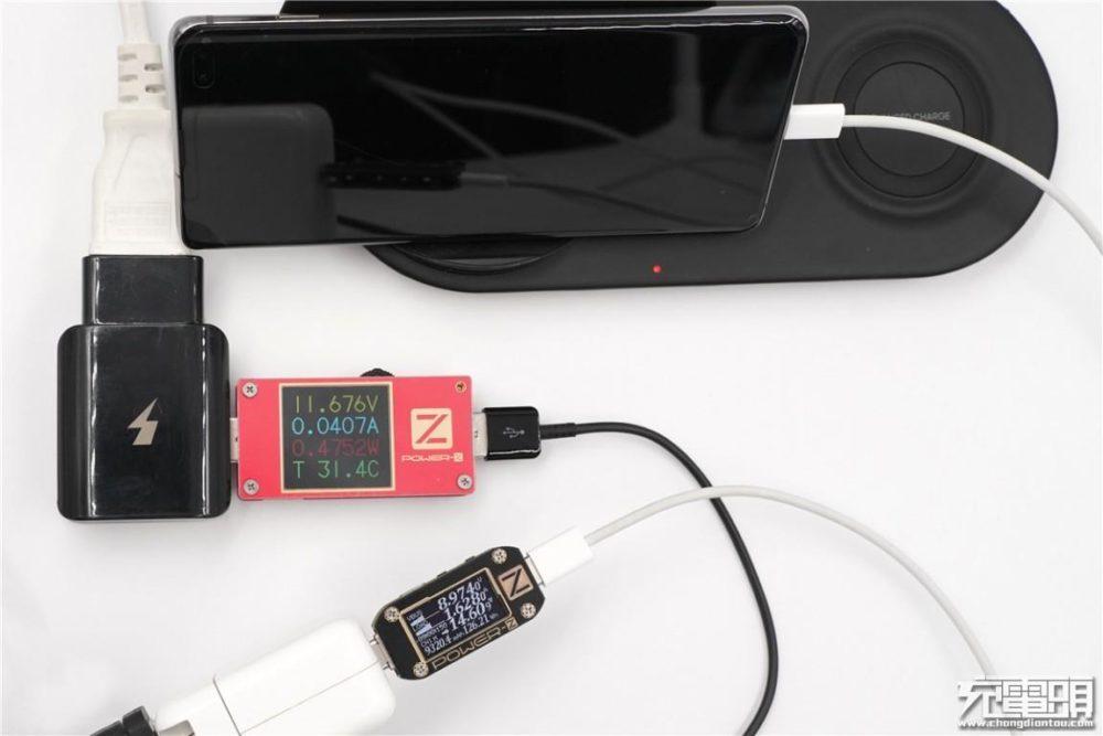 Samsung S10 Plus - проводная и беспроводная зарядка