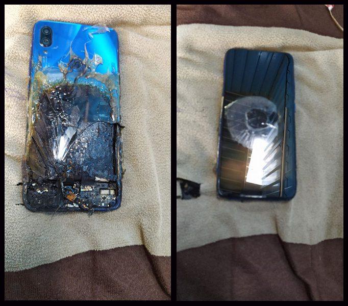сгоревший Redmi Note 7S
