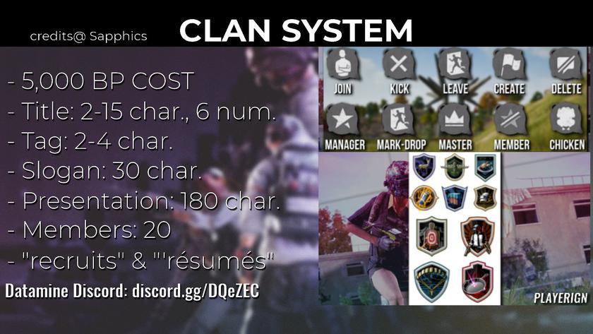 система кланов описание создания клана в PUBG