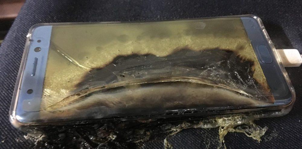 взорванный Samsung Galaxy Note 7