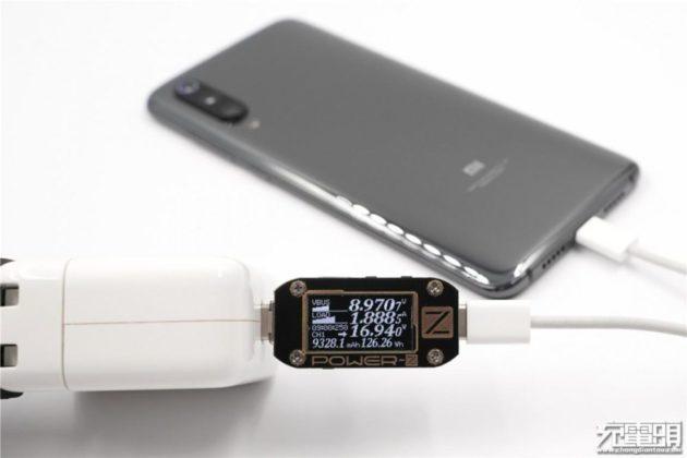 Xiaomi Mi 9 - проводная зарядка