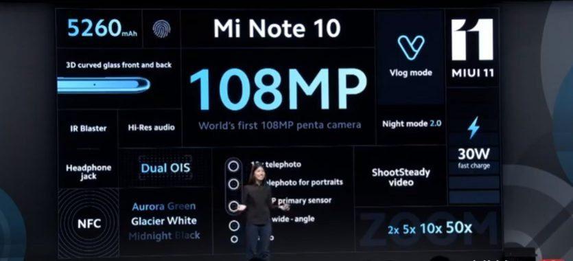 Особенности Mi Note 10