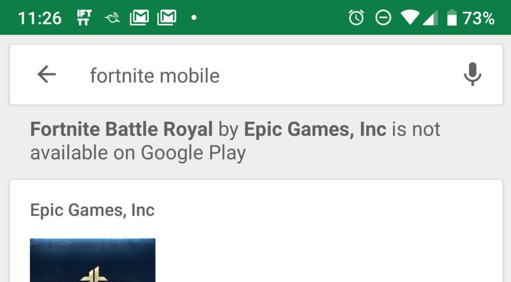 Будет ли Fortnite Mobile распространятся в магазине Google Play Store