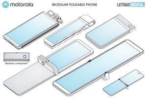 Чертеж патента следующей модификации Motorola Razr 2019
