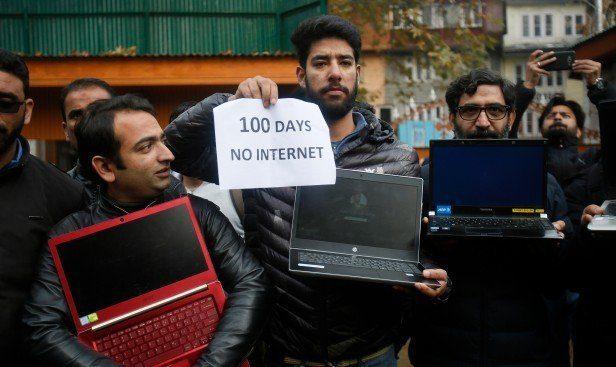 Отключение интернета в Индии