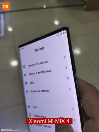 Xiaomi Mi Mix 4 на фото
