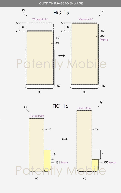 Патент Samsung на смартфон с расширяемым дисплеем