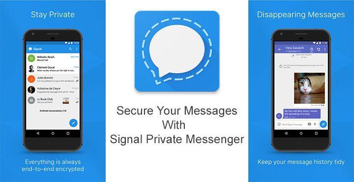 Signal Private Messenger-Самые надежные и безопасные мессенджеры для ОС Android