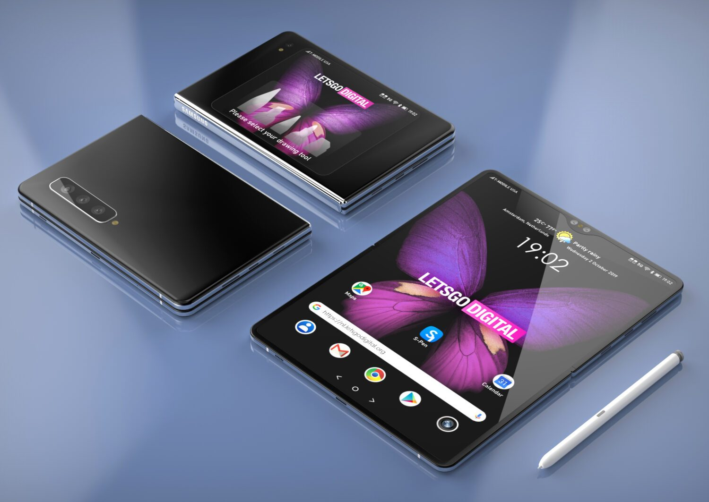 Финальный дизайн Galaxy Z Fold - горизонтальный изгиб и стилус