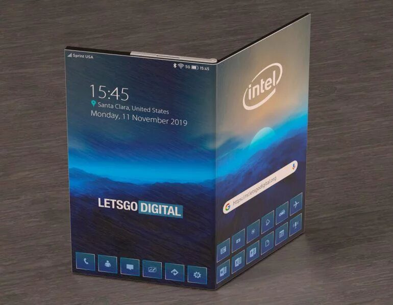 Intel показала смартфон с гибким дисплеем